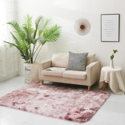 BUNNY LIFE 北歐風長毛絨扎染地毯-粉紫(120x190cm)