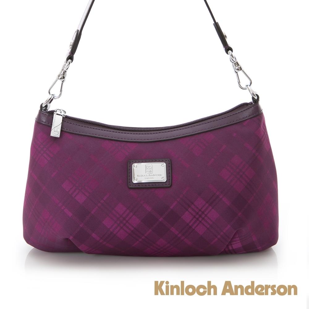【金安德森】ATTITUDE 經典格紋2Way側背包-紫色