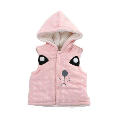 動物造型鋪棉細絲絨連帽背心外套 k61080 魔法Baby