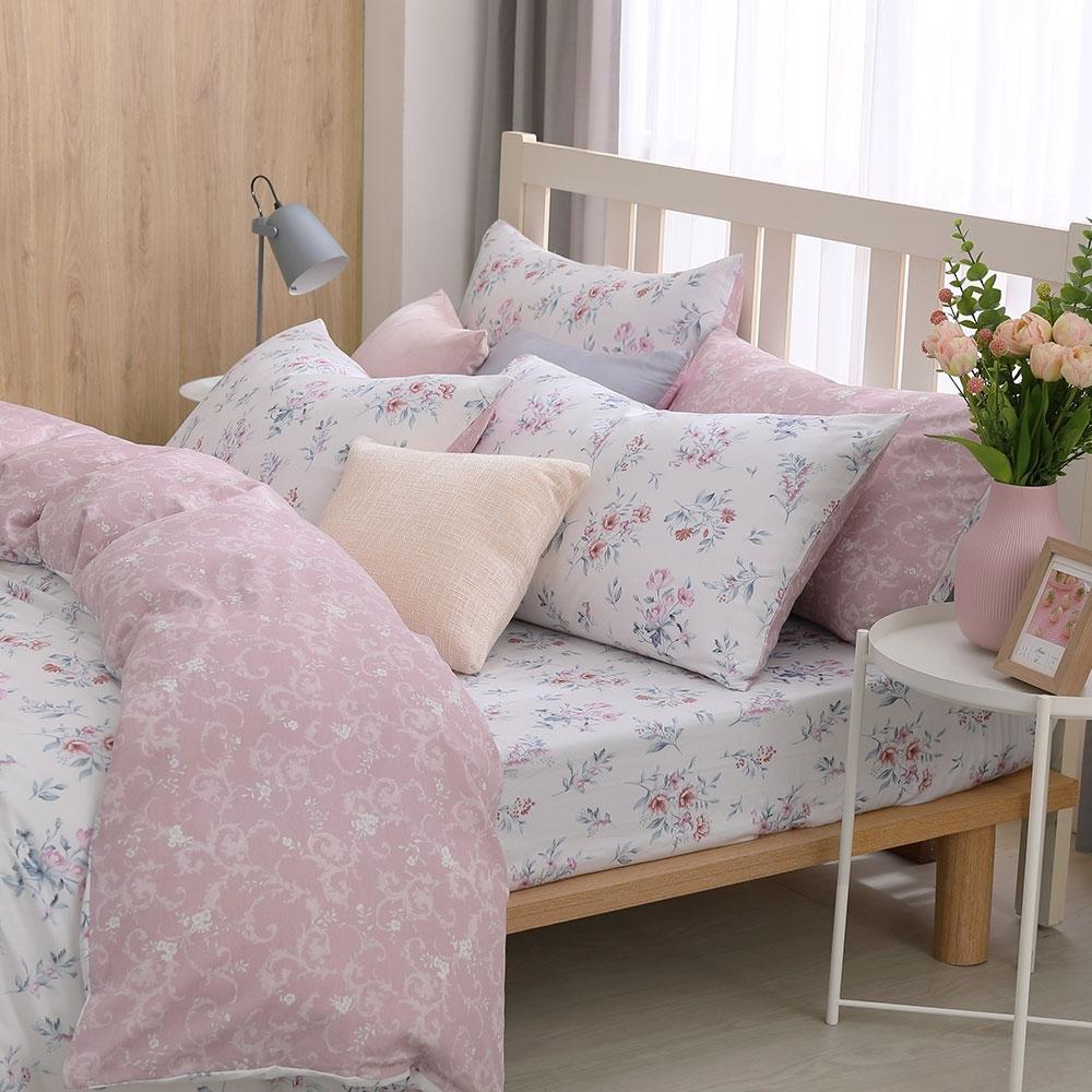 鴻宇 100%精梳棉 黛兒 單人床包枕套二件組