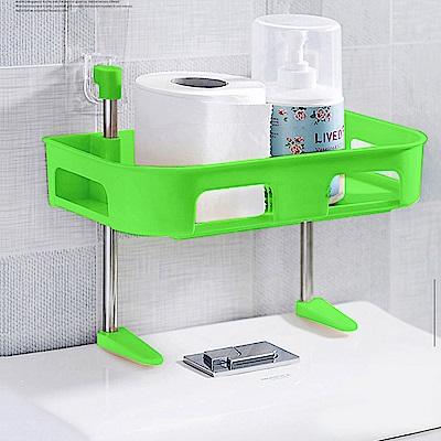 多功能浴室置物架//綠色單層