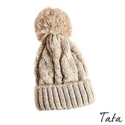 毛球針織毛線帽 共二色 TATA