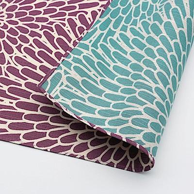 日本Prairiedog 伊砂文樣兩面風呂敷/便當巾-菊紋(紫/青綠)