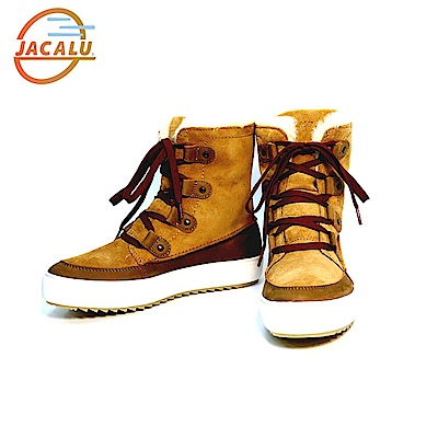 Jacalu 中筒麂皮雪靴2761.3/J 卡其
