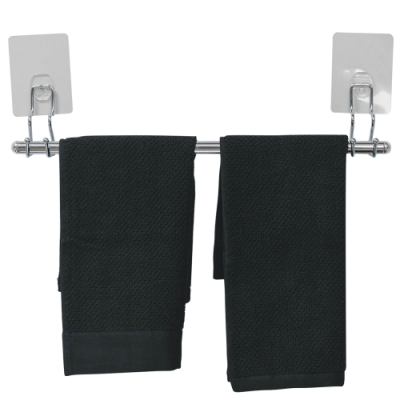 樂嫚妮 304不鏽鋼單桿毛巾收納架-台灣製