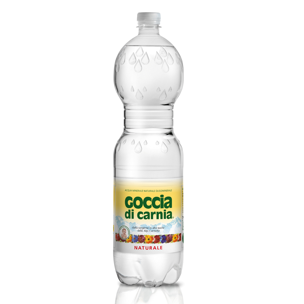 義大利Goccia di Carnia 高地卡尼天然礦泉水 瓶裝(1500mlx12入)
