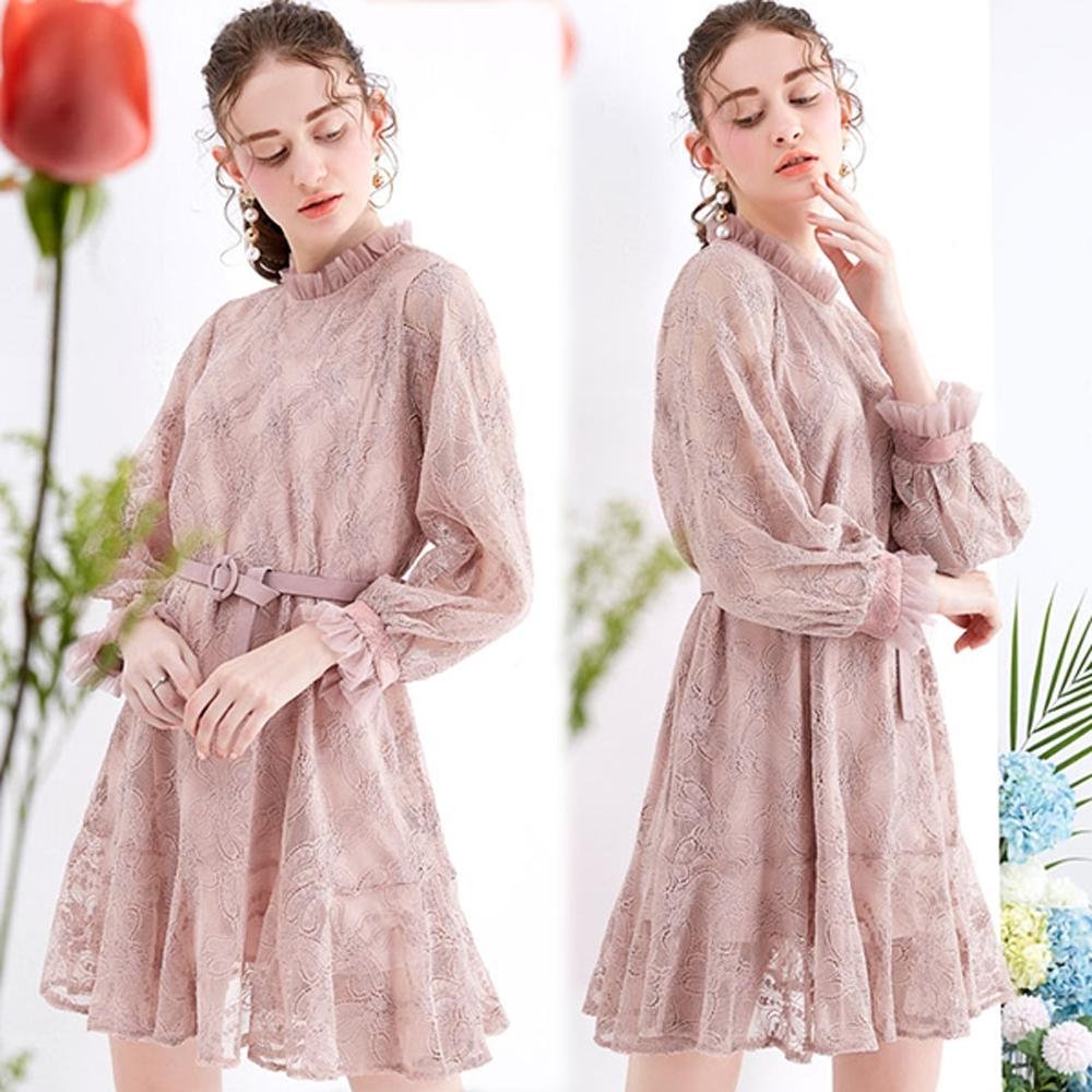 【KEITH-WILL】韓新品俐落蕾絲洋裝-1色