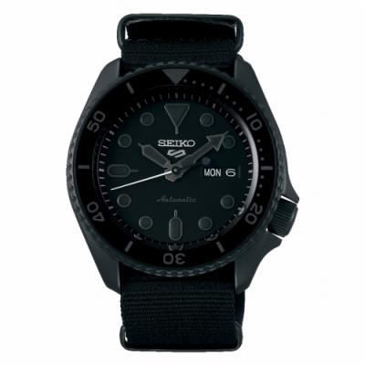 SEIKO 精工 5 Sports 系列機械尼龍錶-黑42.5mm(SRPD79K1)