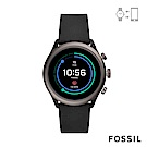 FOSSIL SPORT 運動智能錶-43MM 黑色矽膠