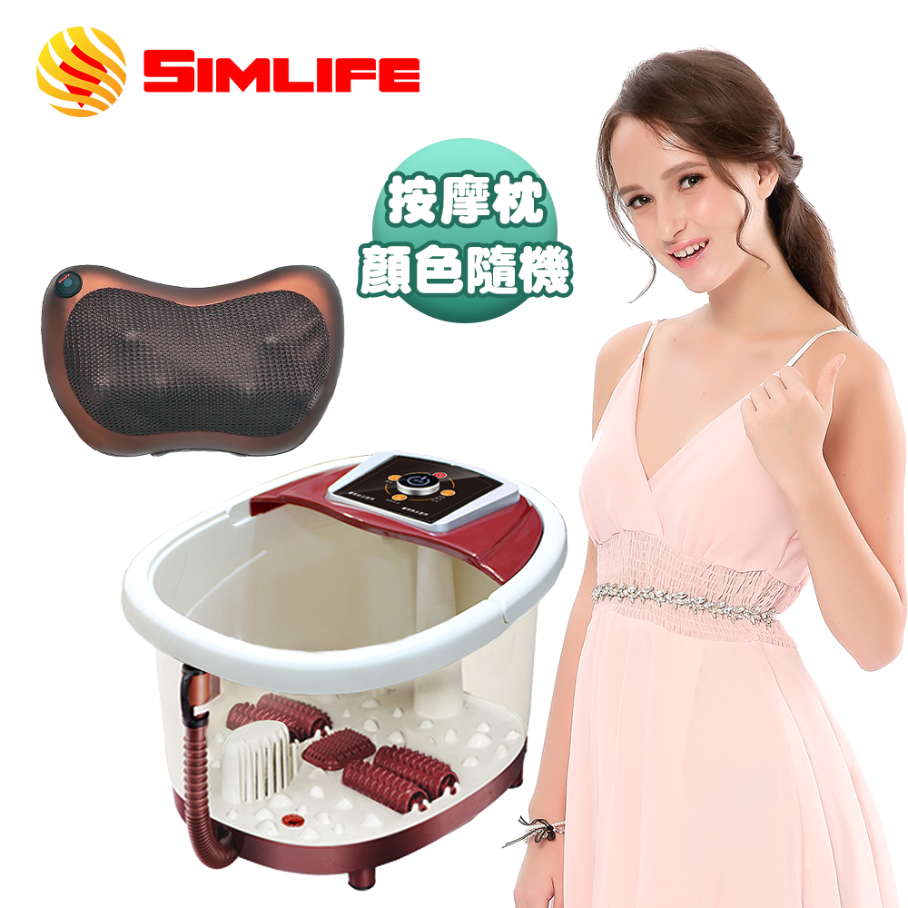 SimLife-穴道滾輪SPA泡腳機按摩舒壓超值組