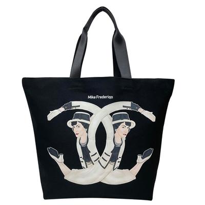 【時時樂】Mike Frederiqo 全球首賣款 可可夫人限量購物袋/黑色
