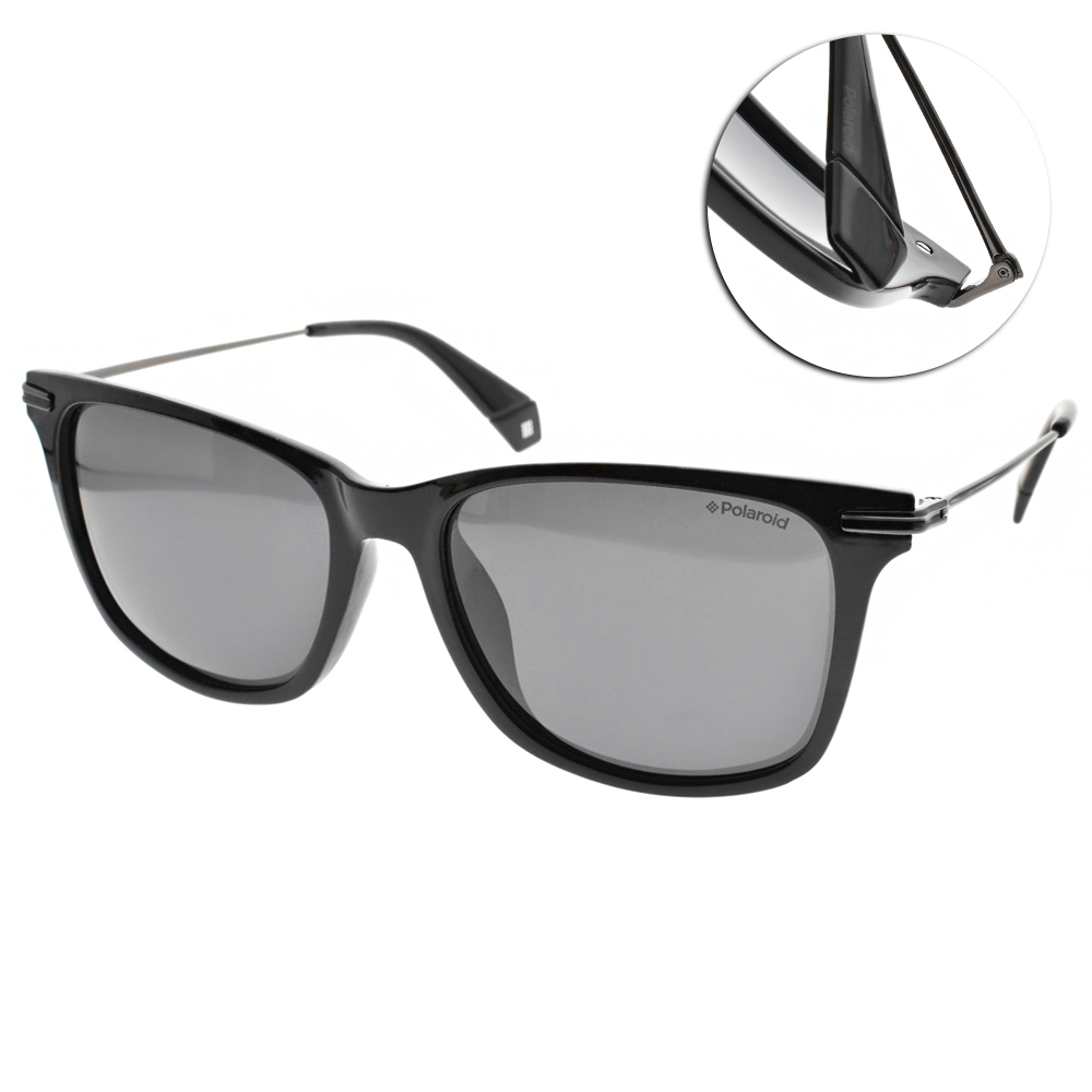 Polaroid 偏光太陽眼鏡 百搭方框款/黑槍 #PLD6078FS 807M9