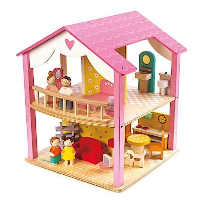Tender Leaf Toys木製家家酒玩具-甜心娃娃屋