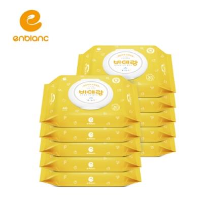 滿額送超贈點!【箱購】ENBLANC濕式衛生紙 (兒童學習專用) 46抽10包 / 箱 (可丟棄於馬桶)