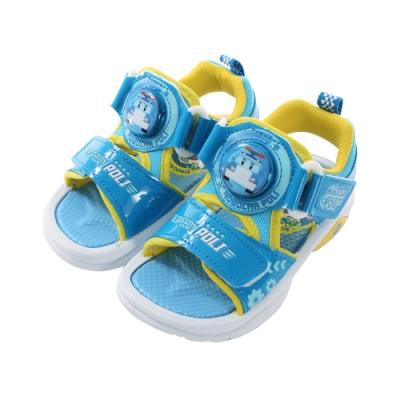 台灣製POLI波力款男童閃燈涼鞋 sa91126 魔法Baby
