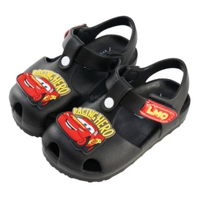 迪士尼童鞋 閃電麥坤 立體造型護趾防水涼鞋-黑(柏睿鞋業)