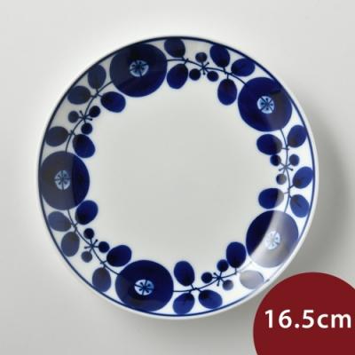 日本Hakusan白山陶 BLOOM 圓形餐盤 花邊 16.5cm