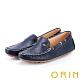 ORIN 牛皮凹洞手縫帆船鞋 藍色 product thumbnail 1