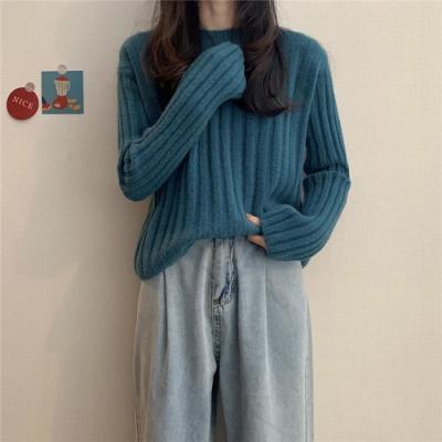 Secret Closet-寬鬆顯瘦針織上衣