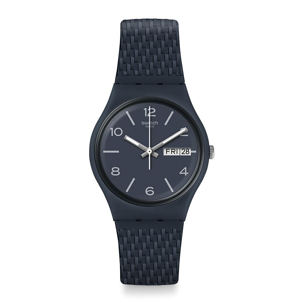 Swatch Bau 包浩斯系列手錶 LASERATA 結構藍調 -34mm
