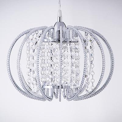 bnatural 鍍鉻圓形透明壓克力珠吊燈 BNL00046