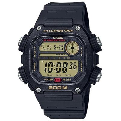 CASIO 粗曠男子強悍風格電子錶-黑色錶框x黑錶盤(DW-291H-9A)/50.5mm