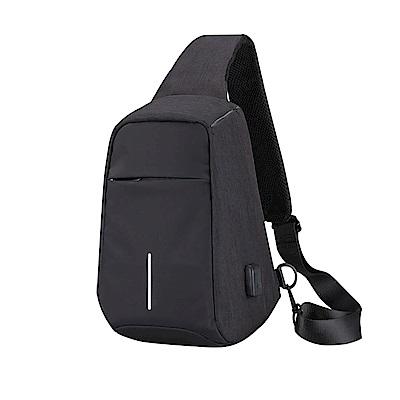 Incare 紐約時尚-智慧USB充電孔防盜胸肩包(2色可選)