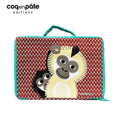 【COQENPATE】法國有機棉布包-方方兒拎出門- 長臂猿