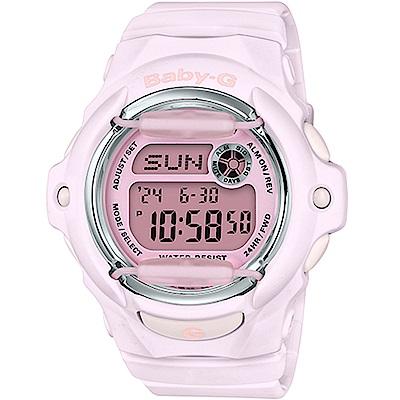 Baby-G 卡西歐 粉嫩時尚戶外運動女錶(BG-169M-4)-粉/43.4mm