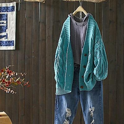 麻花紋加厚粗毛線羊毛針織衫外搭/設計所在Y4849