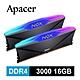 Apacer NOX RGB DDR4 3000 16GB 桌上型RGB發光電競記憶體(8GBx2) product thumbnail 1