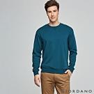 GIORDANO 男裝經典素色大學T恤- 02 池影藍