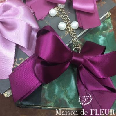 Maison de FLEUR 甜美蝴蝶結絲帶吊飾