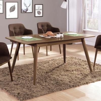 H&D 帕特淺胡桃5.3尺拉合餐桌