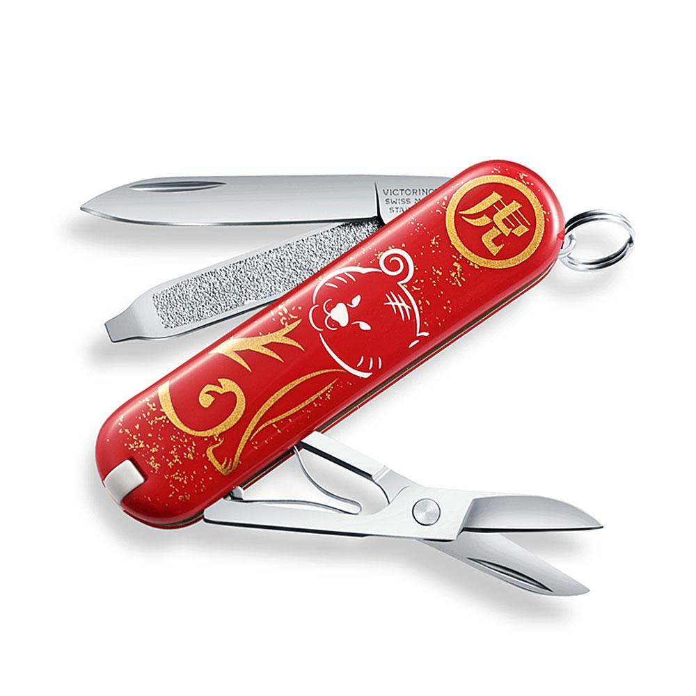 VICTORINOX瑞士維氏 58mm 生肖特別版7用瑞士刀-虎 0.6223X21