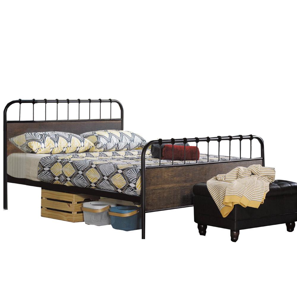品家居 艾迪爾5尺鐵製雙人床架(不含床墊)-155x197x106cm免組 @ Y!購物