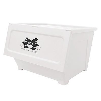 【收納皇后】迪士尼米奇米妮系列 掀蓋式 防塵收納箱(40L/4入組)