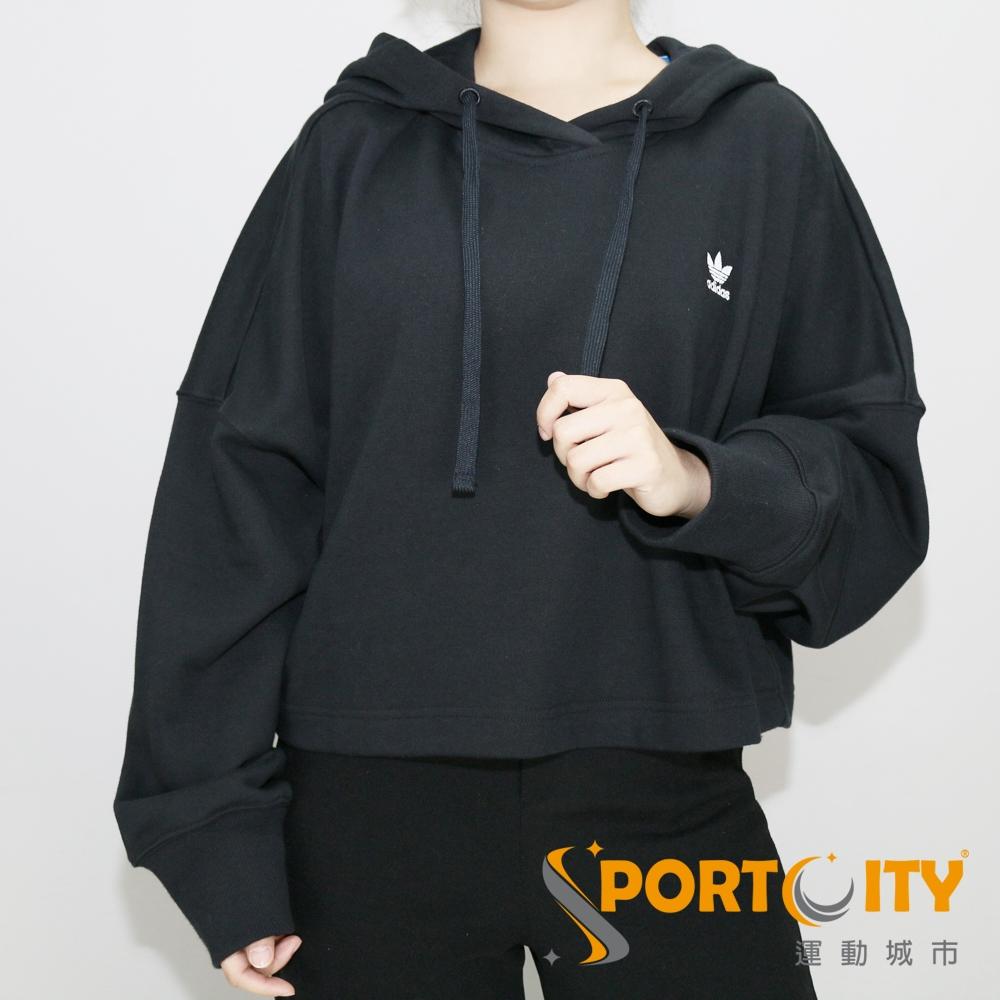 ADIDAS 女連帽時尚寬鬆上衣 黑 DH2759 @ Y!購物