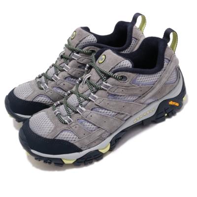 Merrell 戶外鞋 Moab 2 Vent 運動 女鞋 灰 紫 透氣 越野 休閒 ML19904