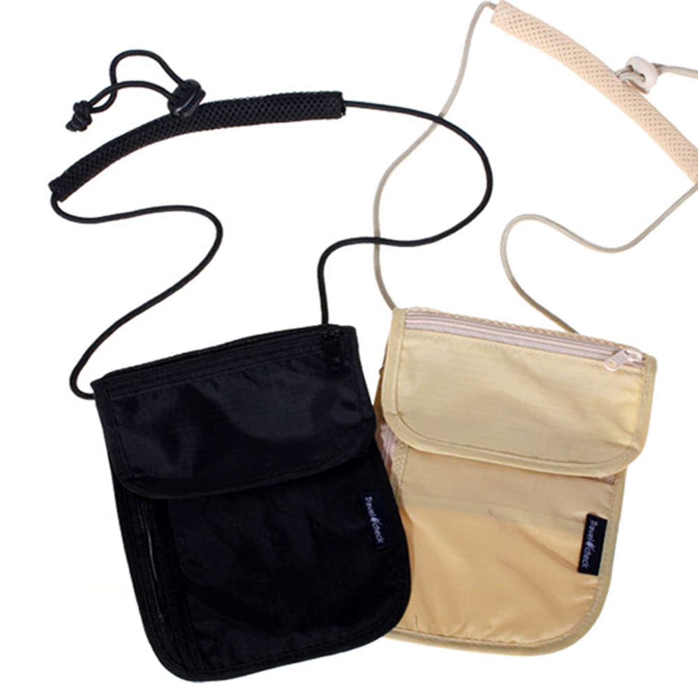 iSFun 旅行專用 可掛斜背證件貼身防盜包 超值2入