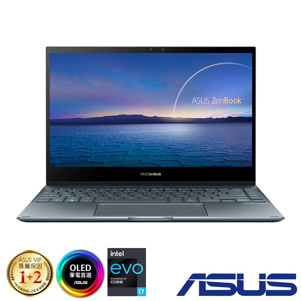 ASUS UX363EA 13吋筆電 (i5-1135G7/16G/512G/EVO平台/OLED觸控螢幕/ZenBook Flip 13/綠松灰)