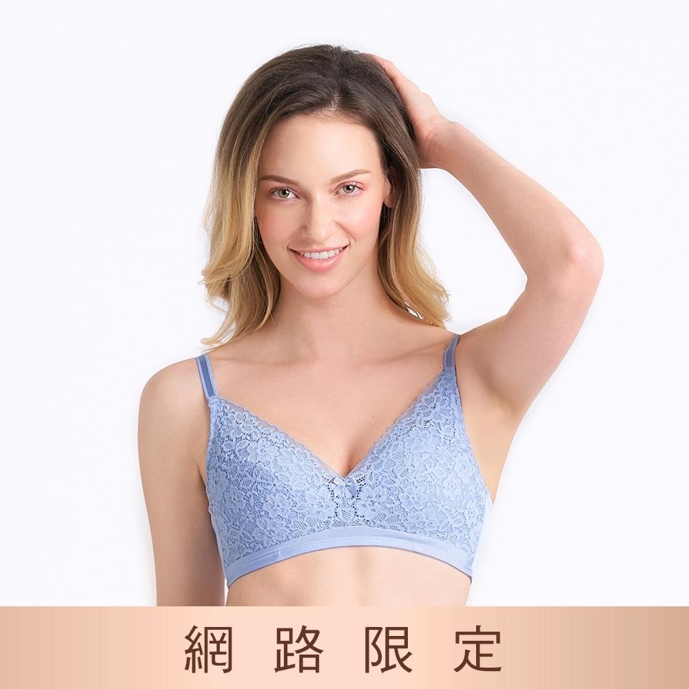 黛安芬-美型嚴選系列 無鋼圈 B-D罩杯內衣 藍色