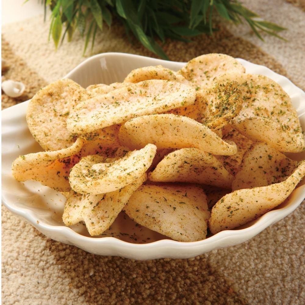 大眼蝦蝦肉餅-鹽烤海苔100g(大片蝦餅)