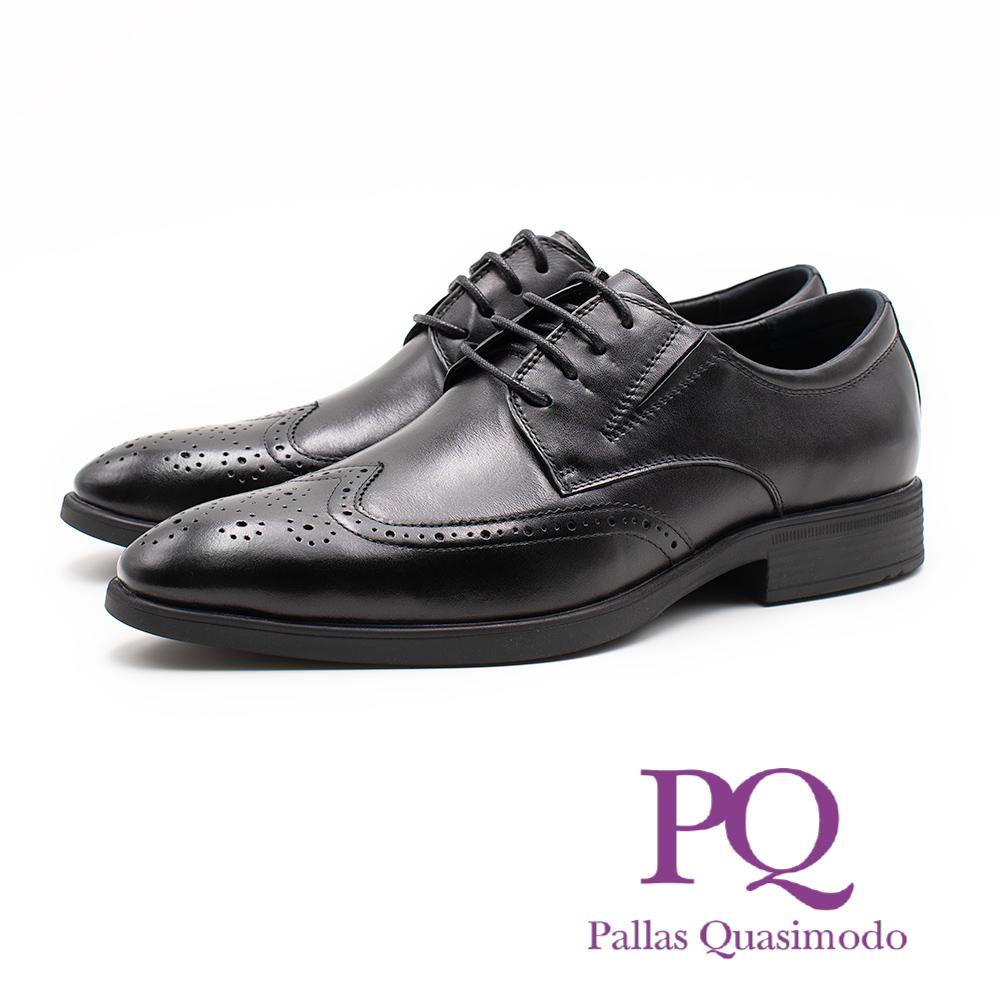 PQ 都會紳士雕花綁帶皮鞋 男鞋 - 黑