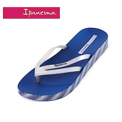 IPANEMA  BOSSA系列  森巴舞曲 側邊印花人字拖鞋-寶藍色