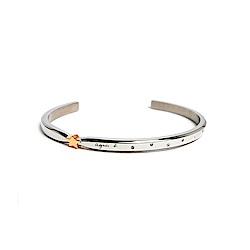 agnes b. J ADORE LA NUIT 白鋼對環手環(女)