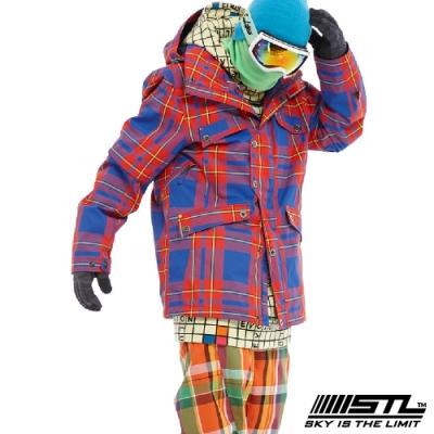 STL Snow 韓國戶外機能滑雪板/雪衣外套 男女款 紅藍格紋