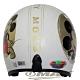 金米奇半罩式機車安全帽-白色+抗uv短鏡片+6入安全帽內襯套 product thumbnail 1