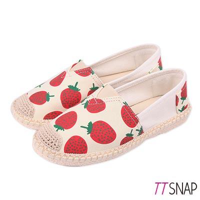 TTSNAP帆布鞋-夏季水果輕巧休閒鞋 草莓紅