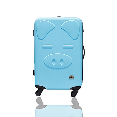 BEAR BOX 三隻小豬之豬事如意系列24吋/輕硬殼行李箱-粉藍